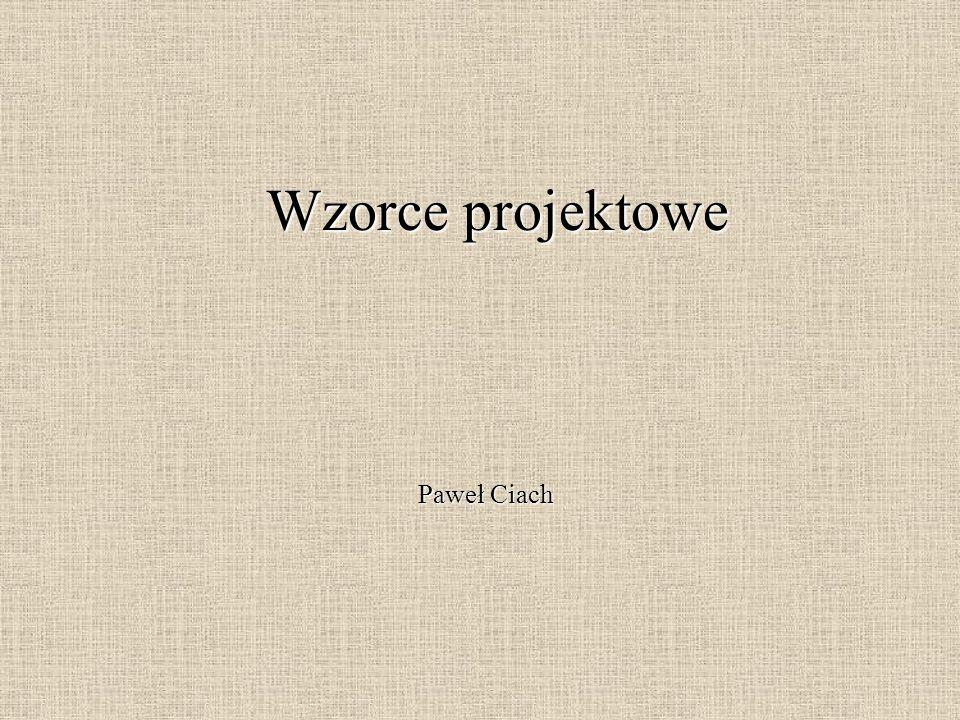 Wzorce projektowe Paweł Ciach