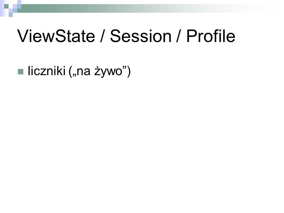ViewState / Session / Profile liczniki (na żywo)
