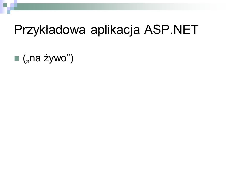 Przykładowa aplikacja ASP.NET (na żywo)