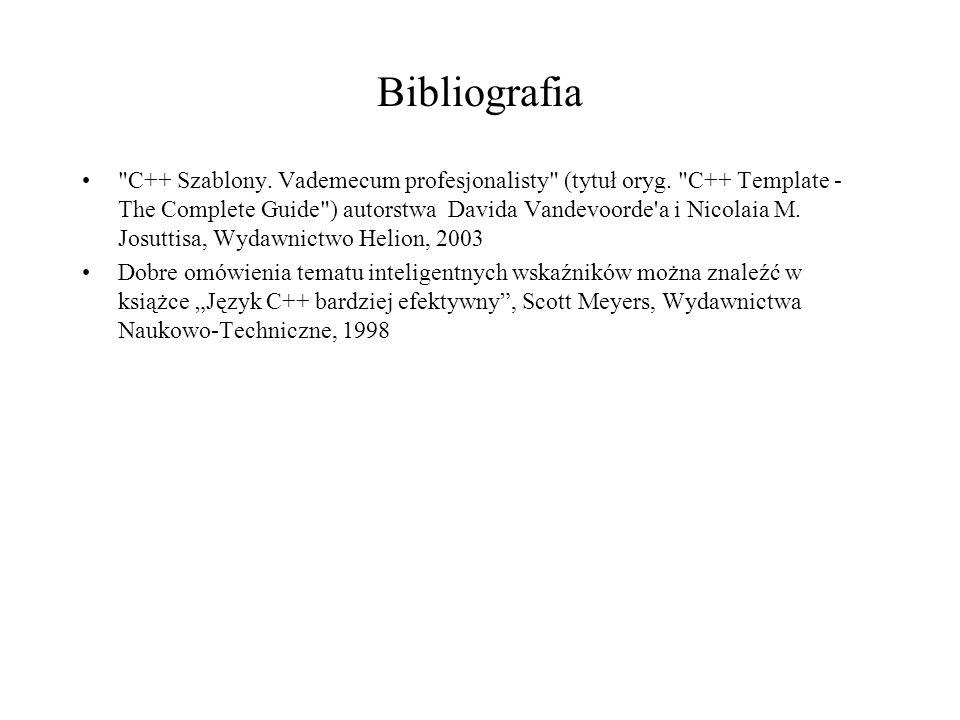 Bibliografia C++ Szablony.Vademecum profesjonalisty (tytuł oryg.