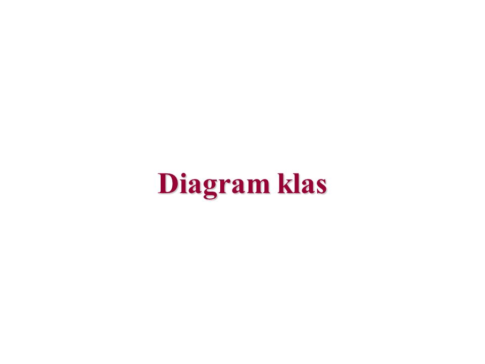 Diagram klas - notacja pole nazwy klasy (rzeczownik w liczbie pojedynczej).