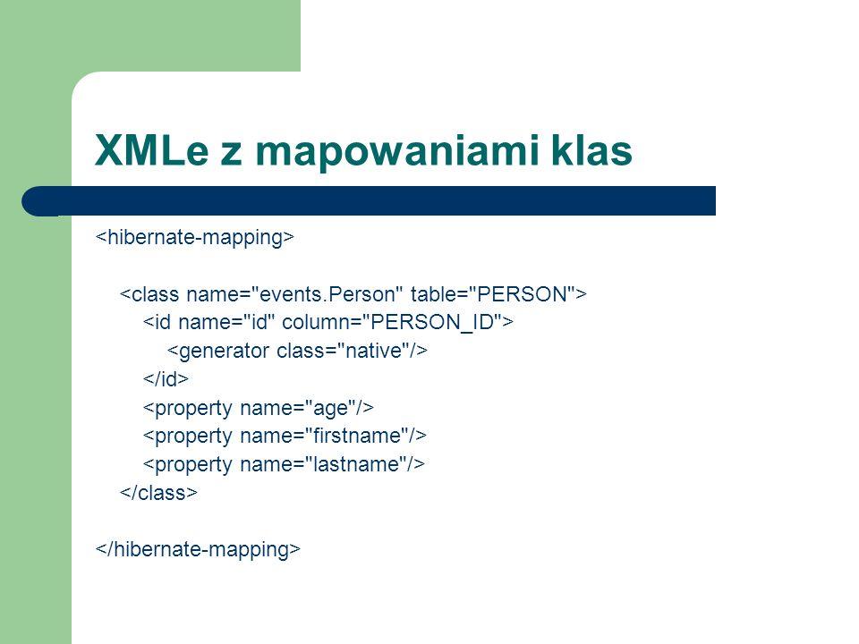 XMLe z mapowaniami klas