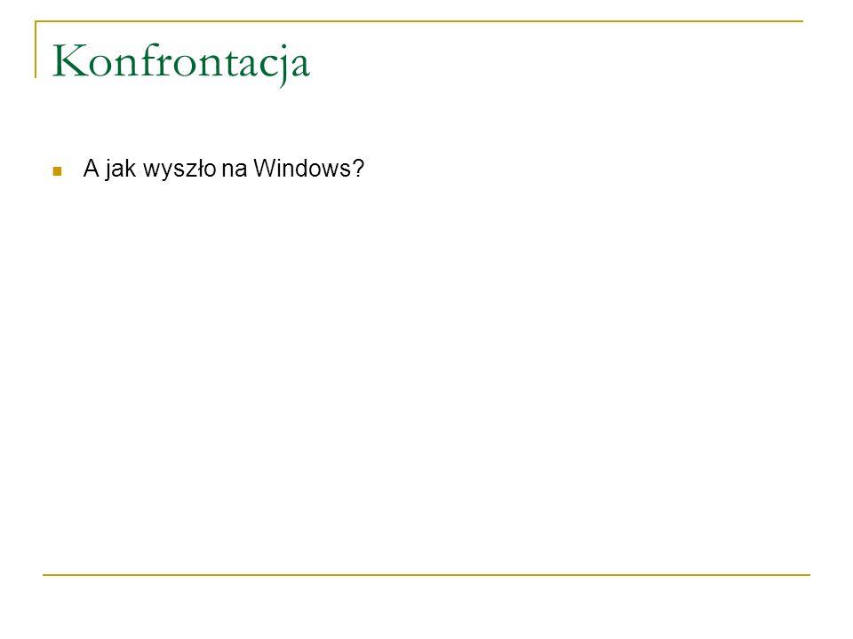 Konfrontacja A jak wyszło na Windows?