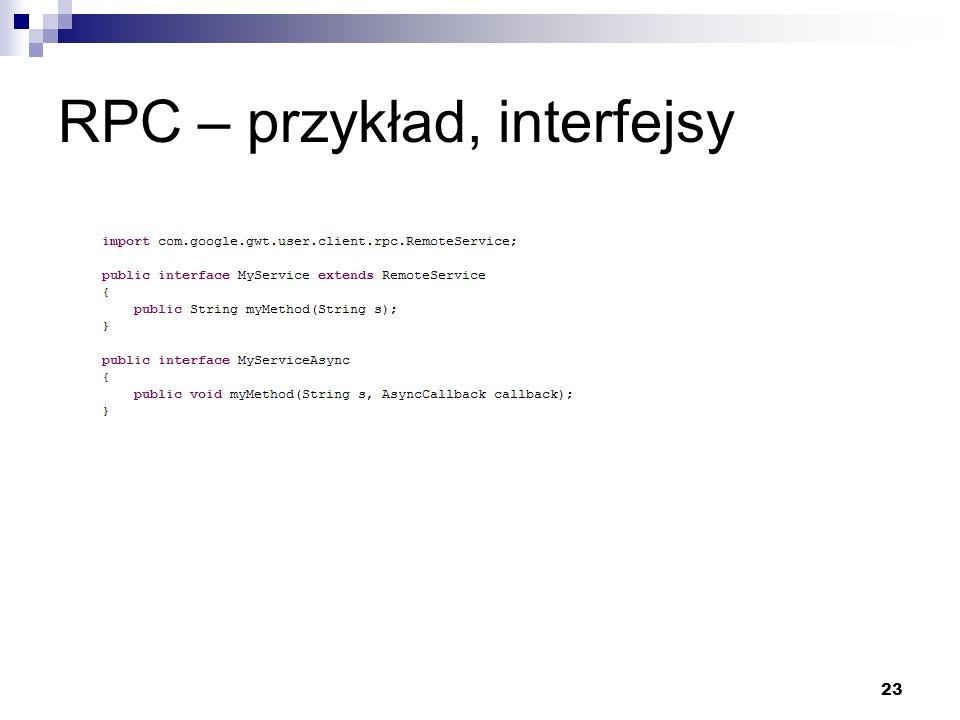 23 RPC – przykład, interfejsy