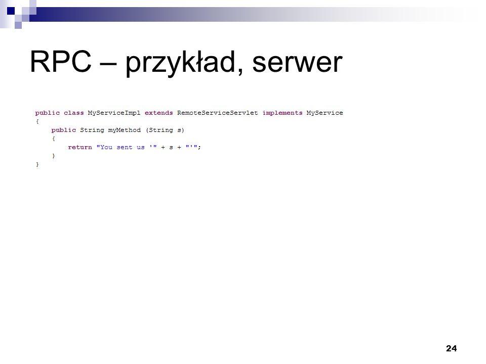 24 RPC – przykład, serwer