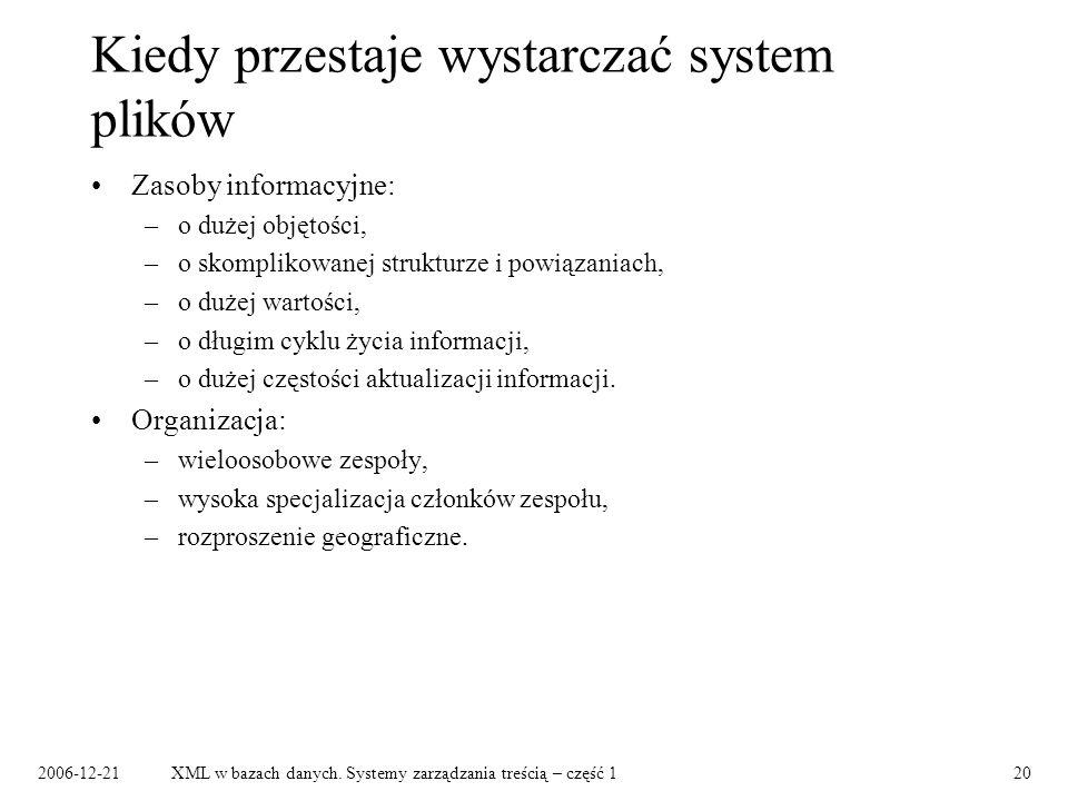 2006-12-21XML w bazach danych.