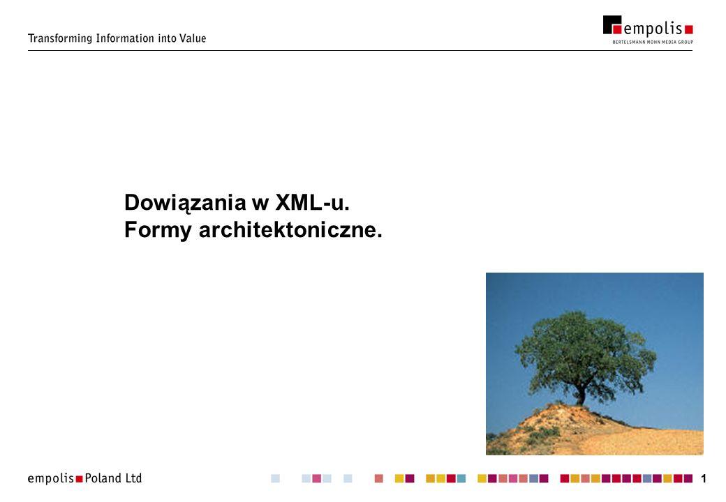 11 Dowiązania w XML-u. Formy architektoniczne.