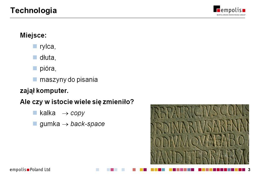 14 Przykład: sigmalink Katalog Projekt publikacyjny Obiekty informacyjne Metainformacje