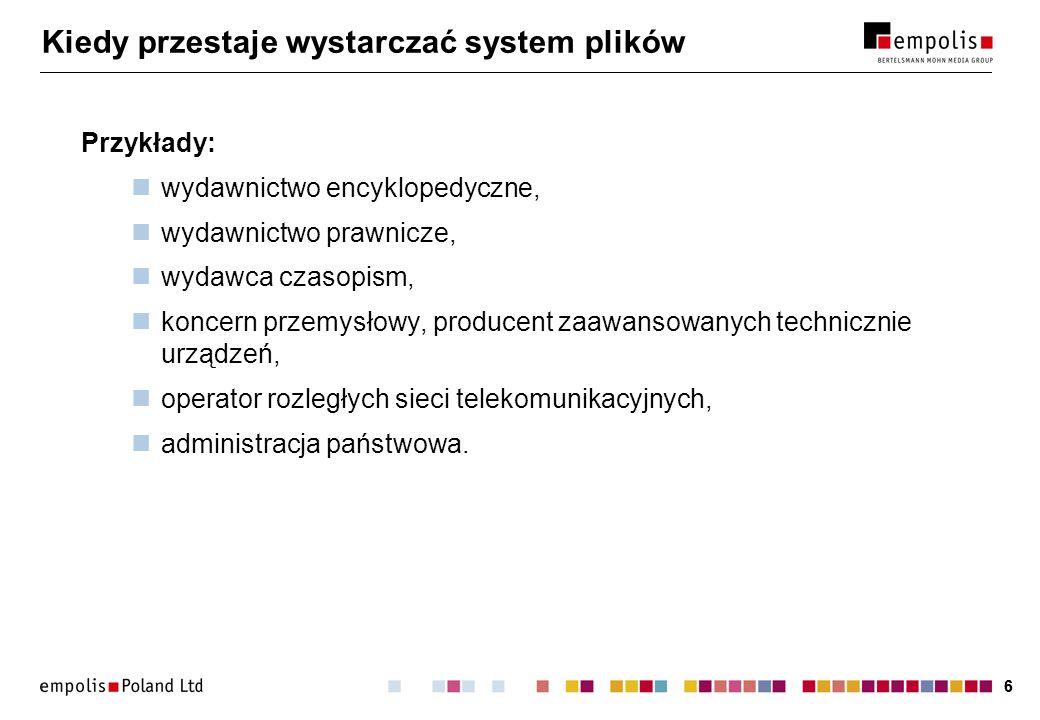 77 Budowa systemu zarządzania dokumentami Repozytorium dokumentów.