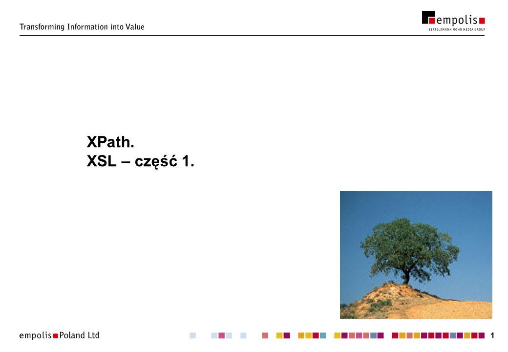 11 XPath. XSL – część 1.