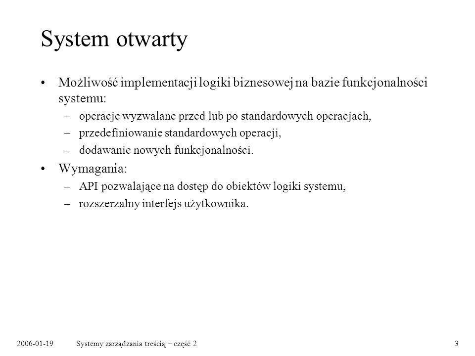 2006-01-19Systemy zarządzania treścią – część 214 Warianty dokumentów (2)...