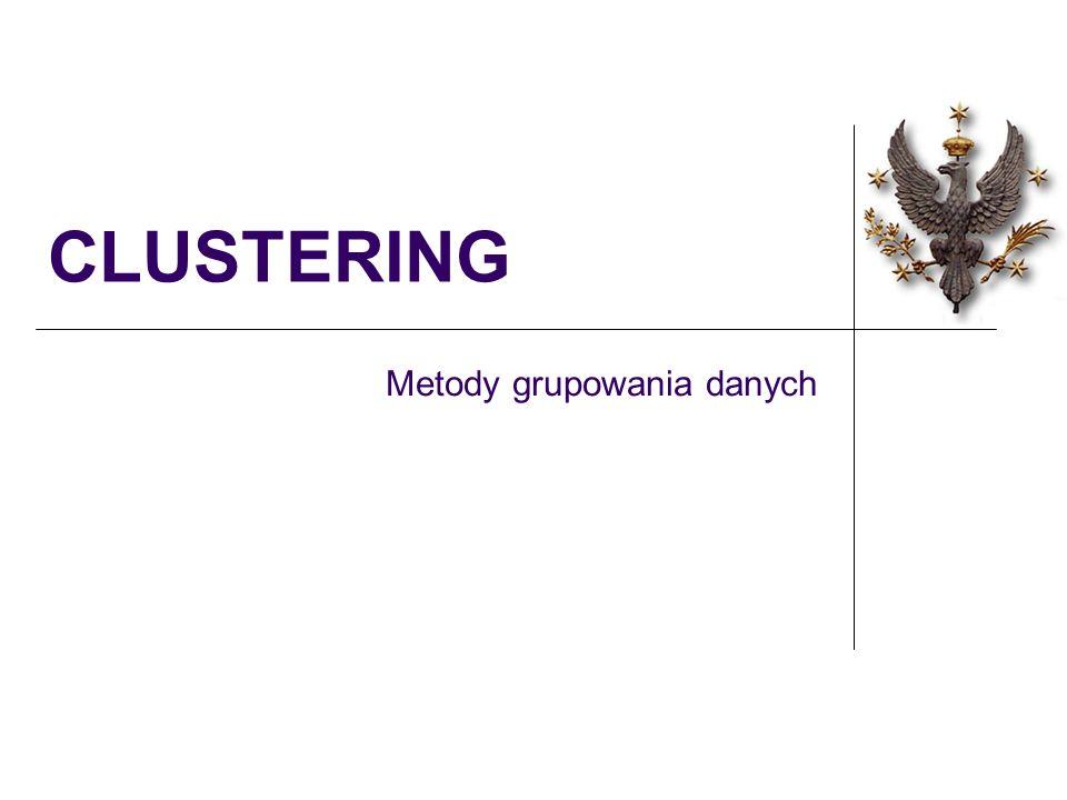 CLUSTERING Metody grupowania danych