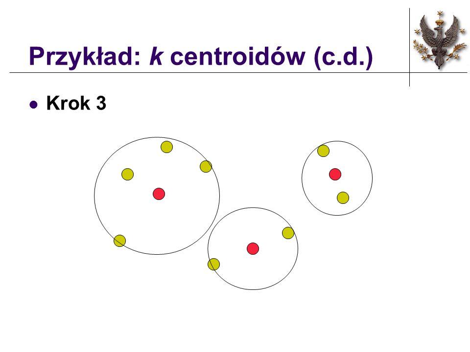 Przykład: k centroidów (c.d.) Krok 2