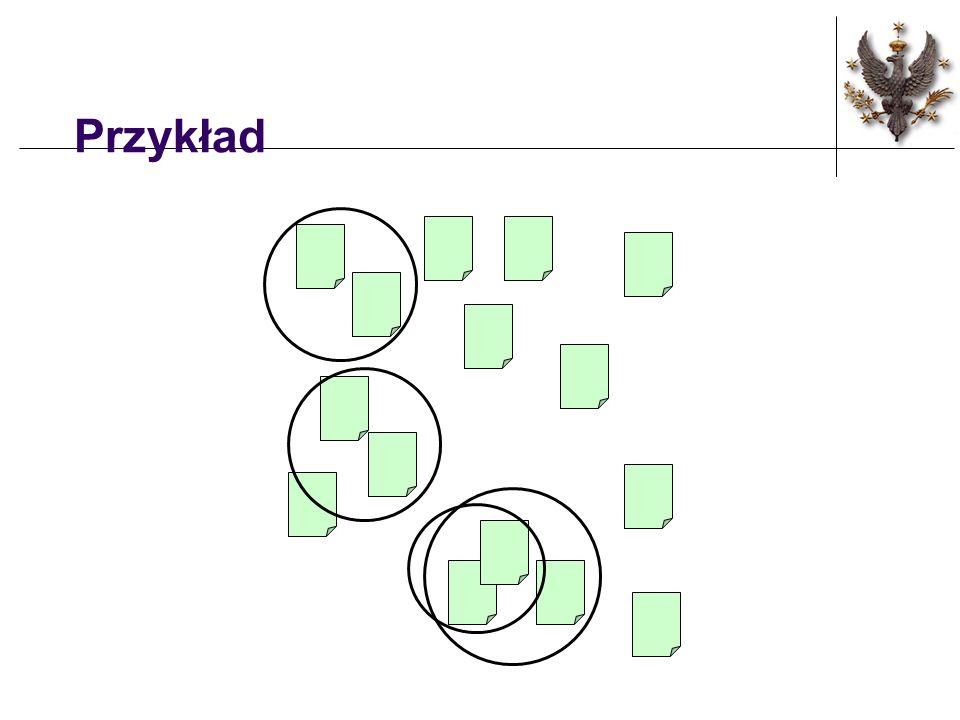 Algorytm Cel: Budować drzewo klastrów dla zbioru n obiektów.