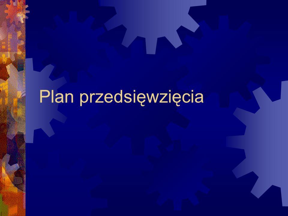 Plan przedsięwzięcia