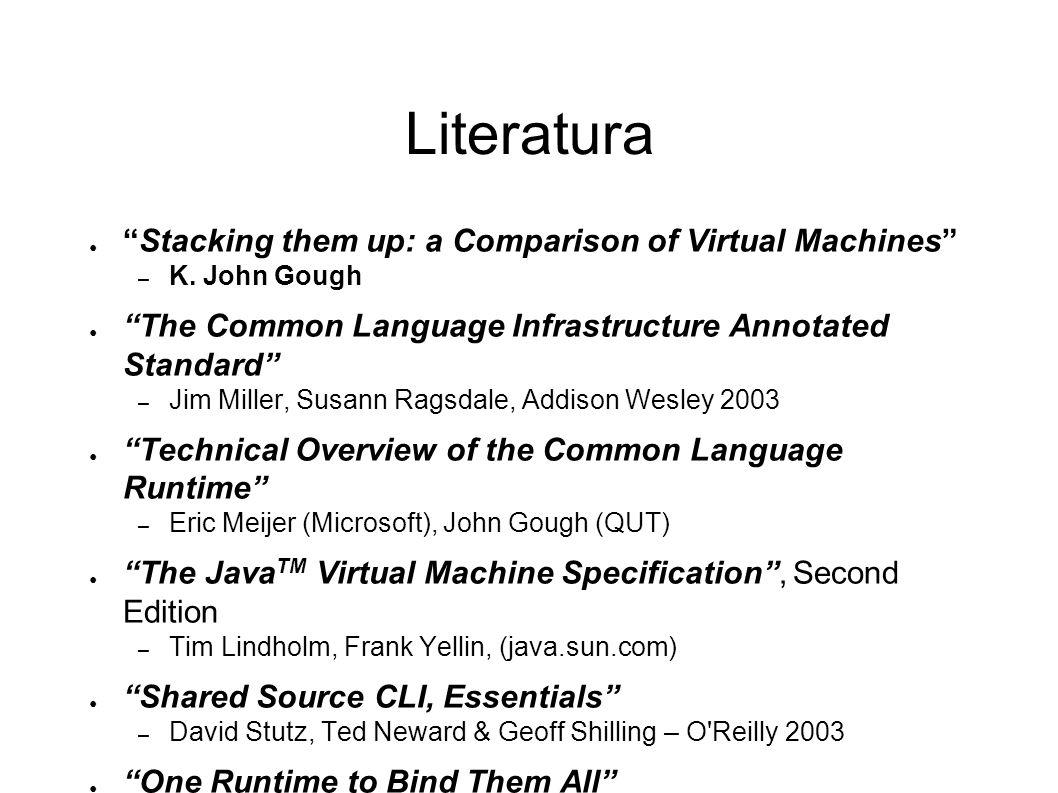 Kierunki rozwoju CLI dodanie preprocesora języka pośredniego, generującego kod bardziej przyjazny interpretacji – cel – systemy o ograniczonych możliwościach, np.