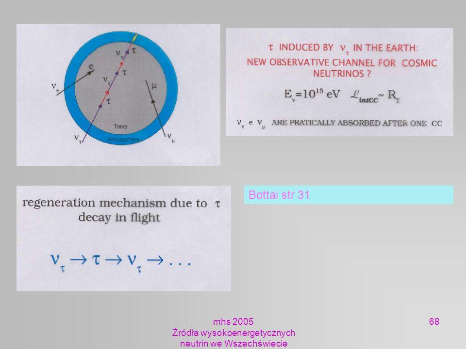 mhs 2005 Żródła wysokoenergetycznych neutrin we Wszechświecie 68 Bottai str 31