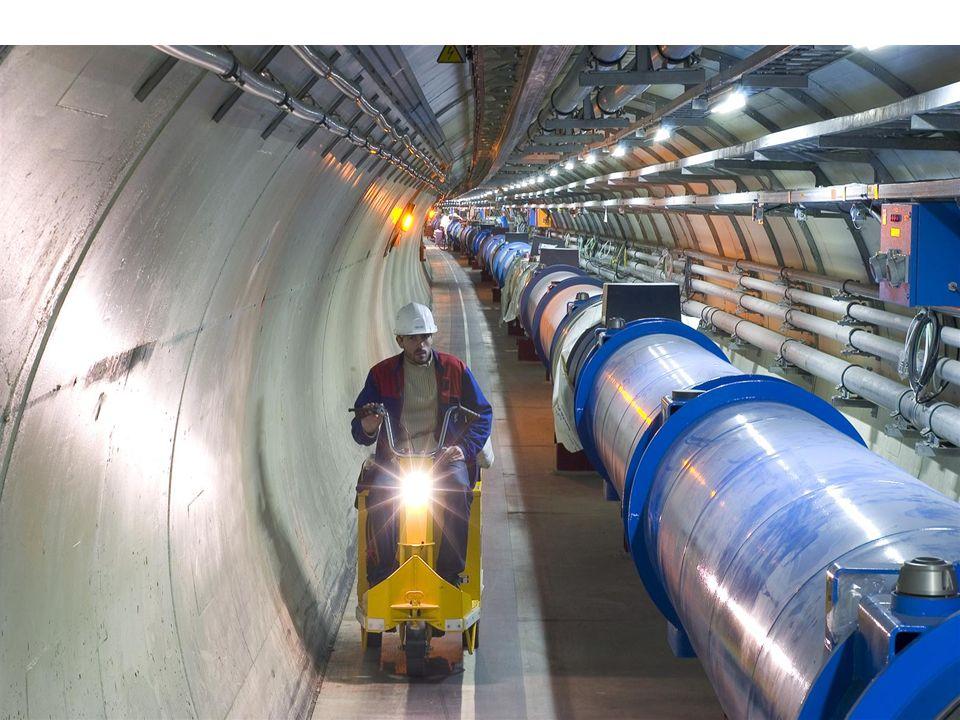 LHC - wystawa PW, HB26 LHC w liczbach – c.d. Wiązki prowadzi i ogniskuje ogółem 9593 magnesów. Magnesy są nadprzewodzące i operują w temperaturze 1,9°