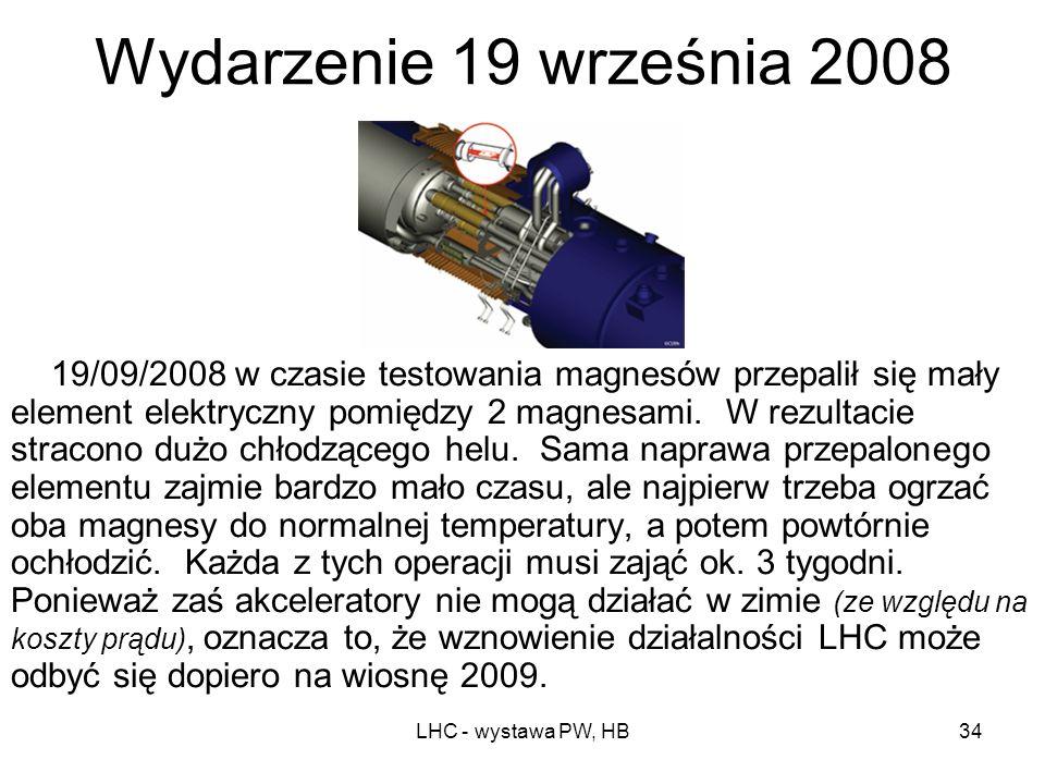 LHC - wystawa PW, HB33 Start LHC: 10 września 2008