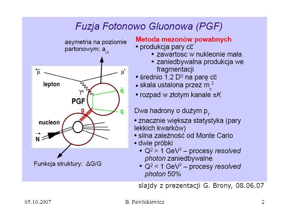 05.10.2007B. Pawlukiewicz2 slajdy z prezentacji G. Brony, 08.06.07