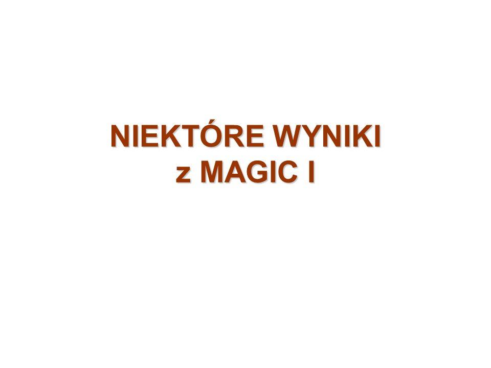 NIEKTÓRE WYNIKI z MAGIC I