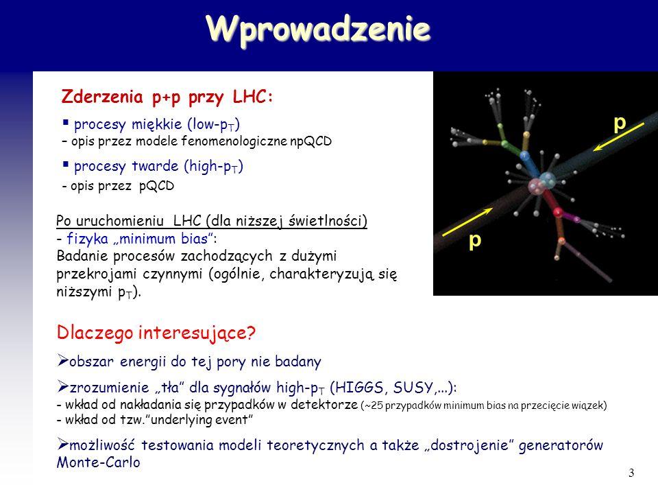 34 Inkluzywne przekroje czynne na producję jetów Obszar centralny 1800GeV 630GeV 546GeV Dobra zgodność z obliczeniami teoretycznymi 1.96TeV M.Zieliński, Czech.J.Phys.54(2004) Dla energii LHC, w oddziaływaniach pp min.bias., dużo przypadków z jetami o dużych E T Produkcja jetów z dużymi E T silnie rośnie z energią Pomiar inkluzywnych przekrojów czynnych jetów: - ograniczenia na PDF - poszukiwanie nowej fizyki, np.
