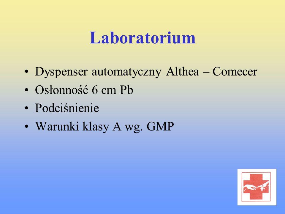 Laboratorium Dyspenser automatyczny Althea – Comecer Osłonność 6 cm Pb Podciśnienie Warunki klasy A wg. GMP