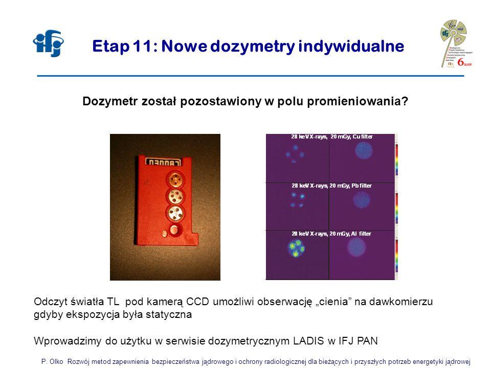 Etap 11: Nowe dozymetry indywidualne P.
