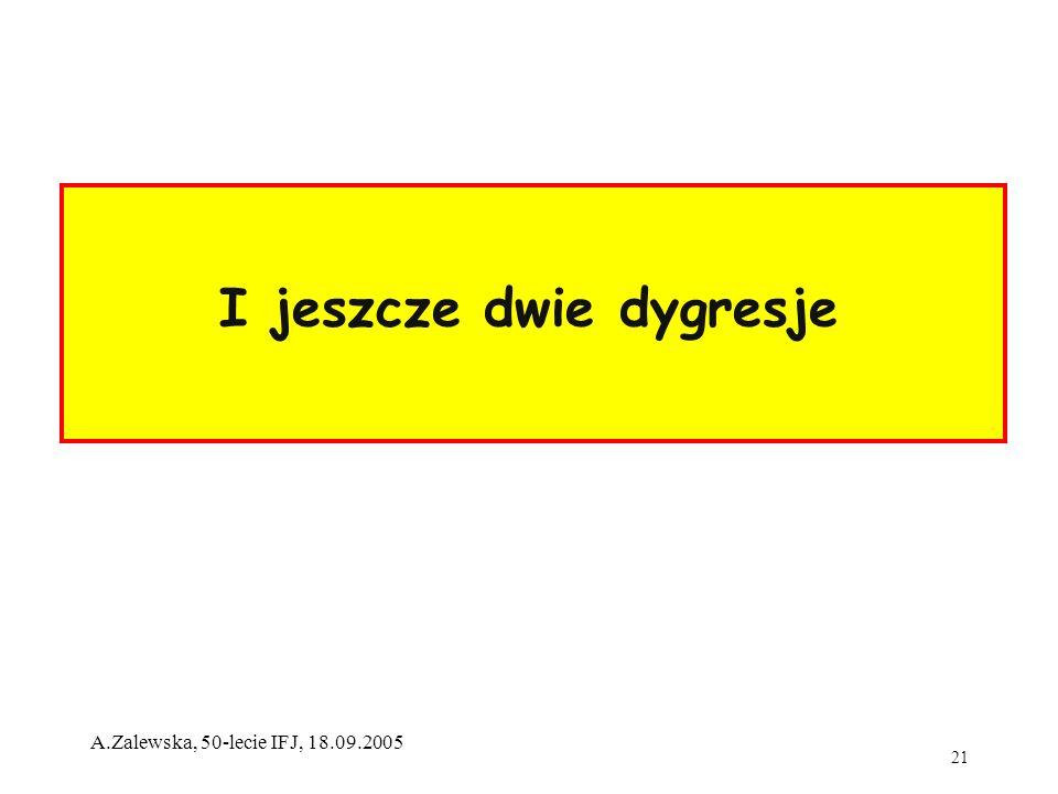 21 A.Zalewska, 50-lecie IFJ, 18.09.2005 I jeszcze dwie dygresje