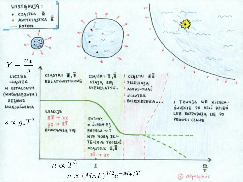 Generowanie asymetrii w L Równowaga (produkcja) > Procesy produkcji są szybkie, zatem rozkład ciężkich neutrin szybko osiąga postać równowagową.