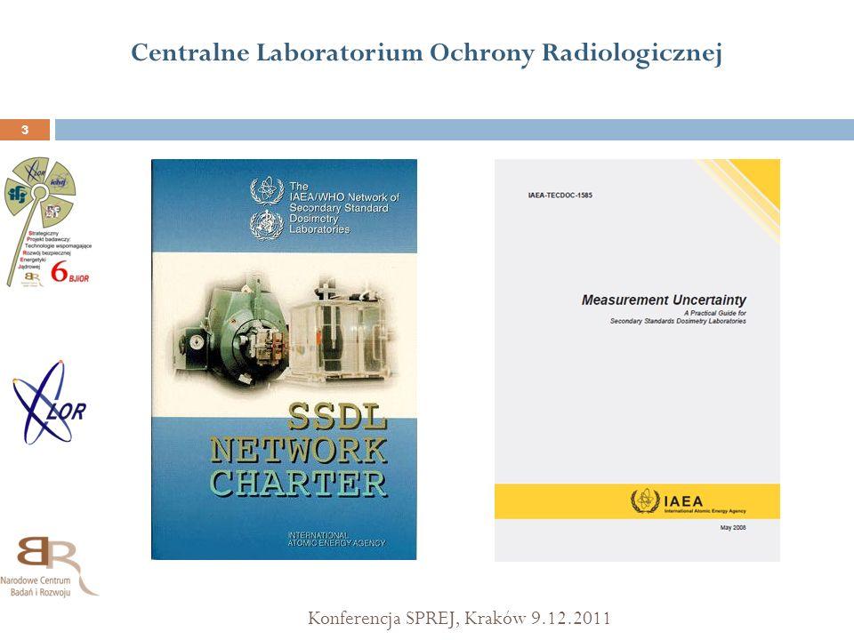 Centralne Laboratorium Ochrony Radiologicznej Konferencja SPREJ, Kraków 9.12.2011 3
