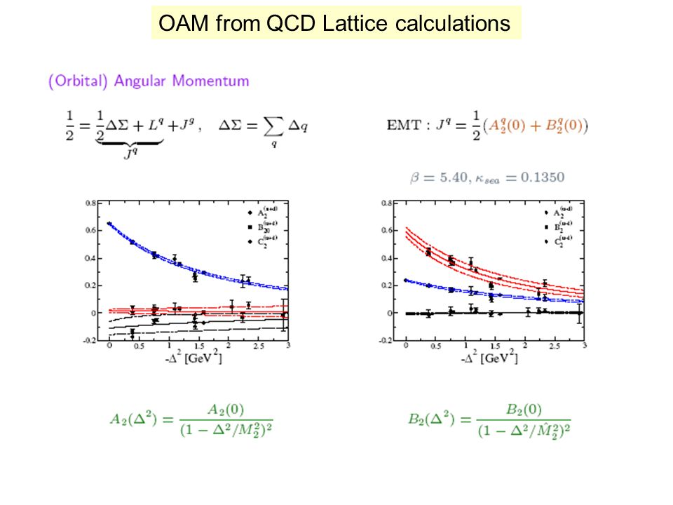 OAM from QCD Lattice calculations