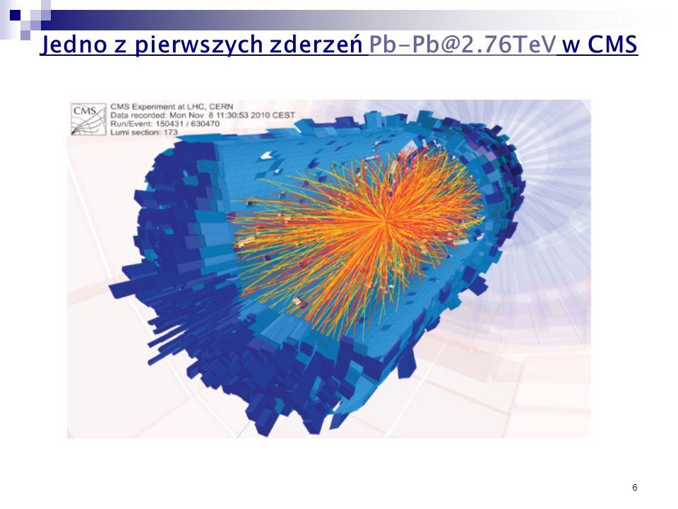 6 Jedno z pierwszych zderzeń Pb-Pb@2.76TeV w CMSPb-Pb@2.76TeV