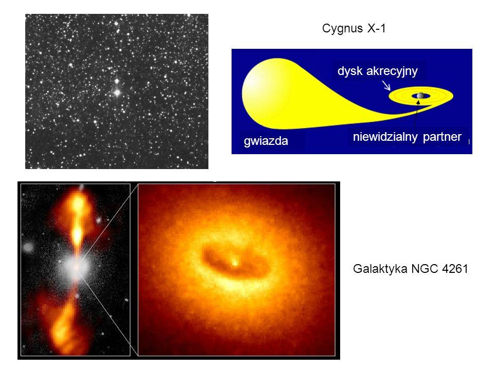 gwiazda niewidzialny partner Cygnus X-1 dysk akrecyjny Galaktyka NGC 4261