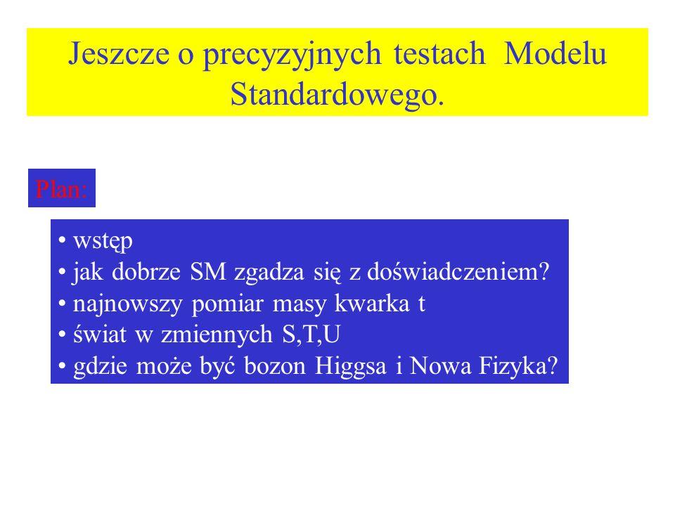 Jeszcze o precyzyjnych testach Modelu Standardowego.