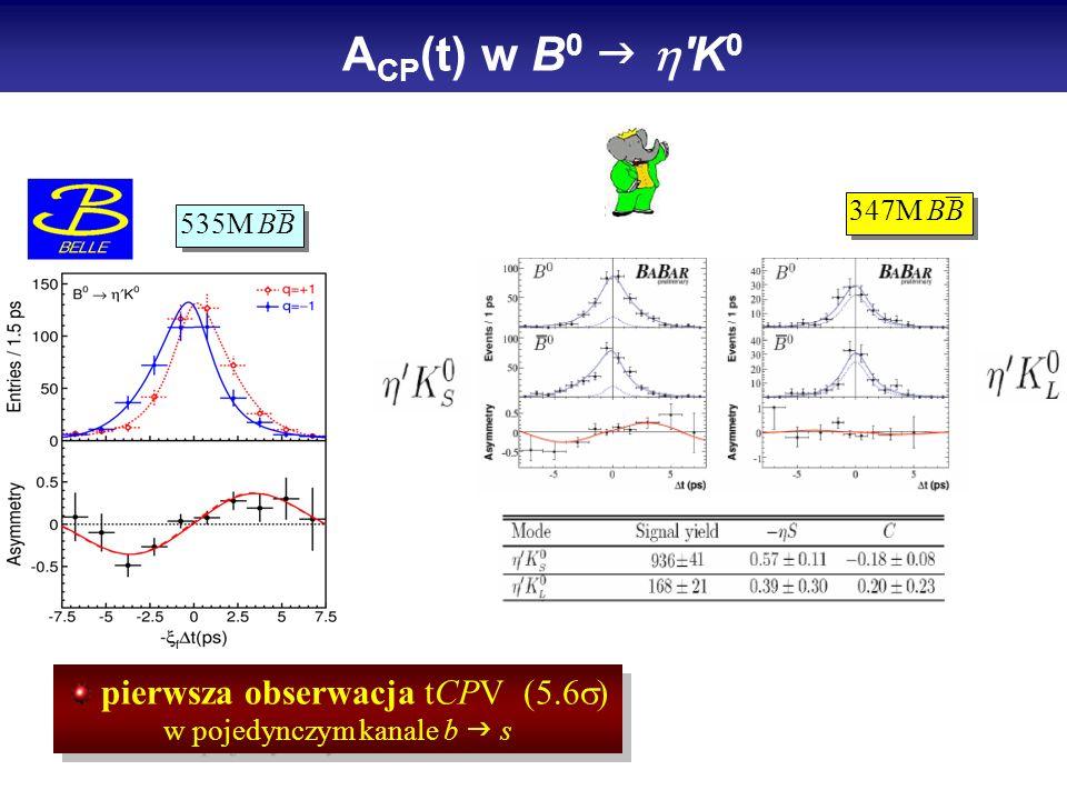 pierwsza obserwacja tCPV (5.6 w pojedynczym kanale b s _ 535M BB A CP (t) w B 0 K 0 _ 347M BB