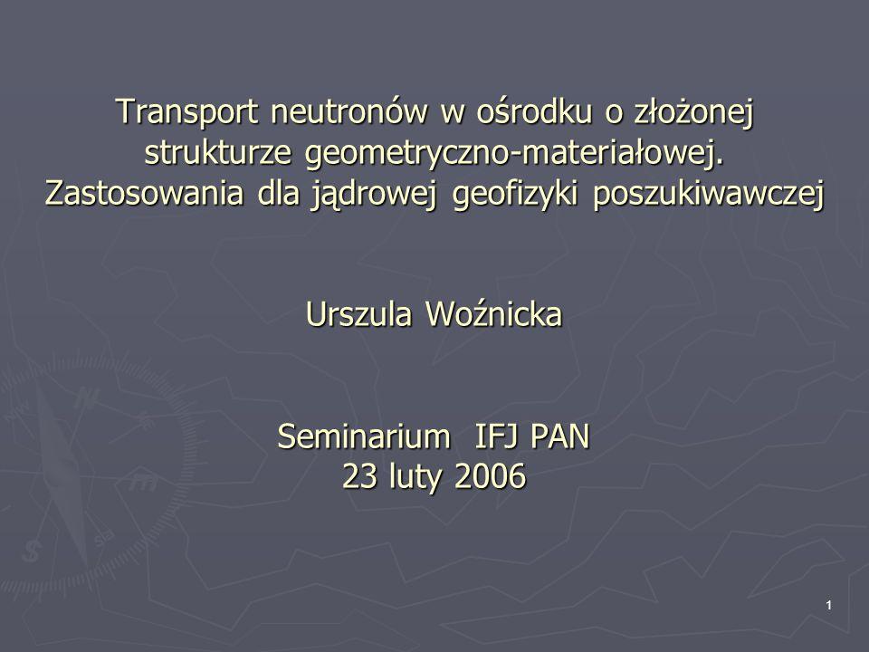 22 Wielkości zmierzone: Gęstość objętościowa Porowatość neutronowa Czas interwałowy fali akustycznej Zawartość K, U, Th Oporność warstwy i strefy filtracji Zawartość niektórych pierwiastków (…) Zestaw profilowań: Elektryczne - opornościowe - indukcyjne Akustyczne Jądrowe - neutronowe - gamma - promieniotwórczość naturalna Magnetyczny rezonans jądrowy (…) Pomiary na próbkach rdzeni Kompleksowe profilowania otworów
