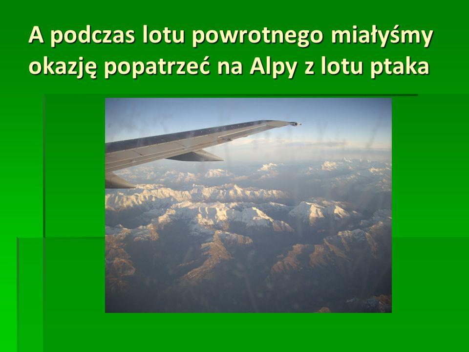 A podczas lotu powrotnego miałyśmy okazję popatrzeć na Alpy z lotu ptaka