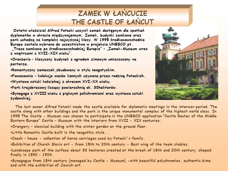 Ostatni właściciel Alfred Potocki uczynił zamek dostępnym dla spotkań dyplomatów w okresie międzywojennym. Zamek, budynki zamkowe oraz park uchodzą za
