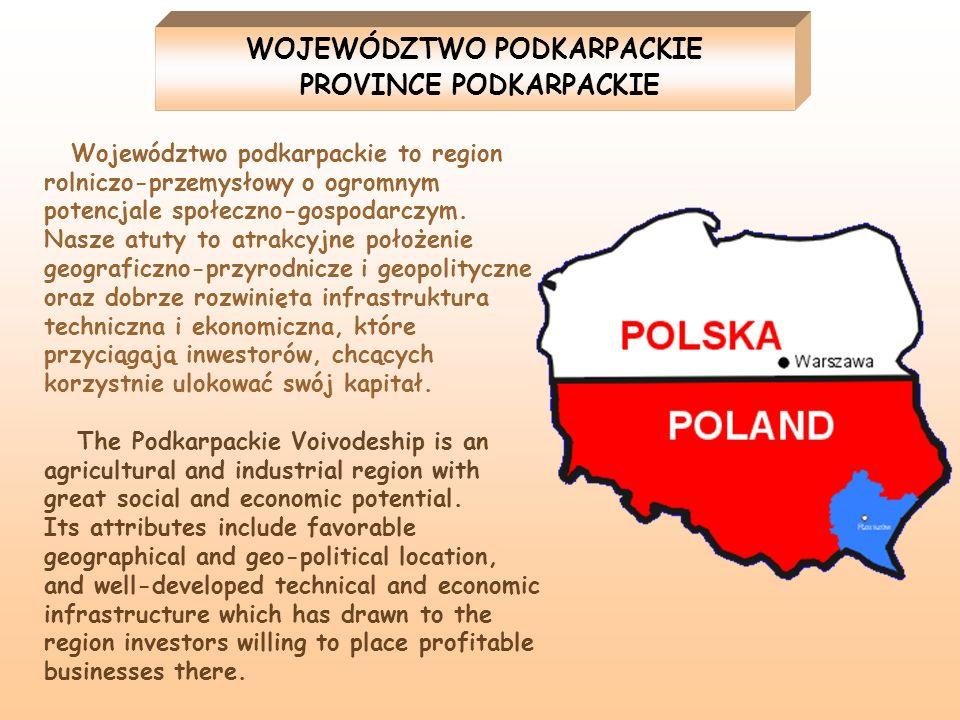 Województwo podkarpackie to region rolniczo-przemysłowy o ogromnym potencjale społeczno-gospodarczym. Nasze atuty to atrakcyjne położenie geograficzno