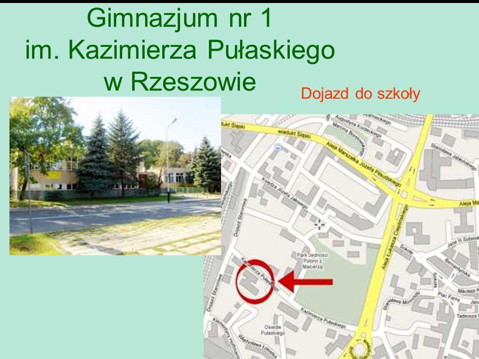 Dojazd do szkoły Gimnazjum nr 1 im. Kazimierza Pułaskiego w Rzeszowie