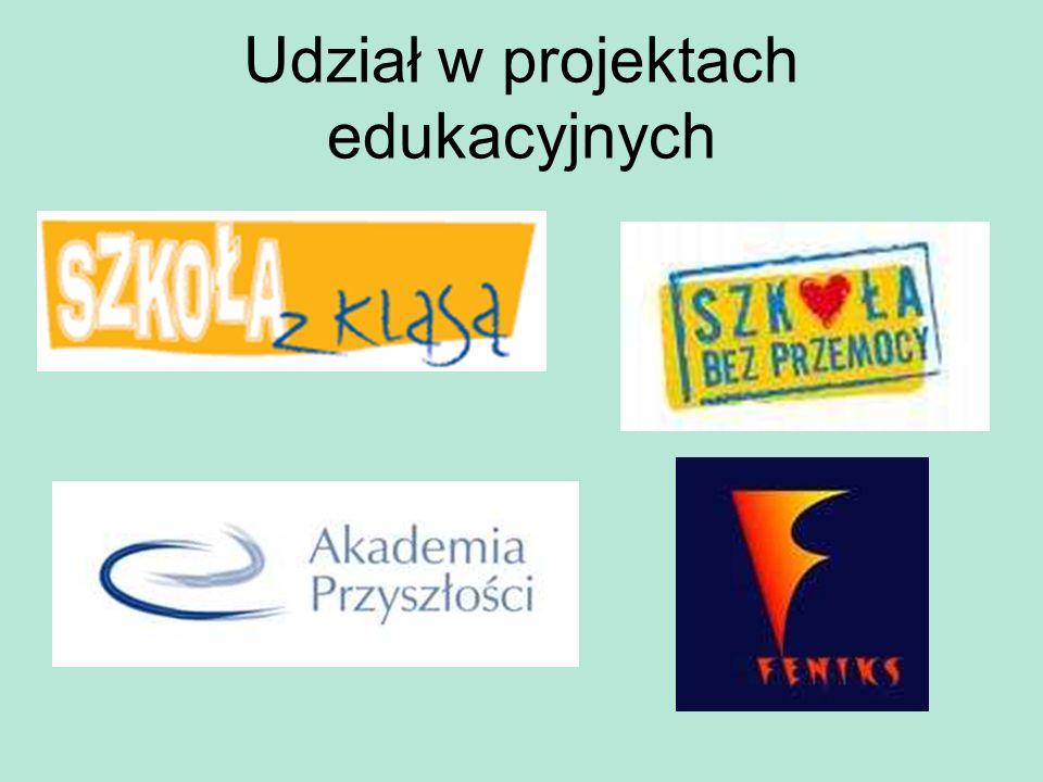 Udział w projektach edukacyjnych