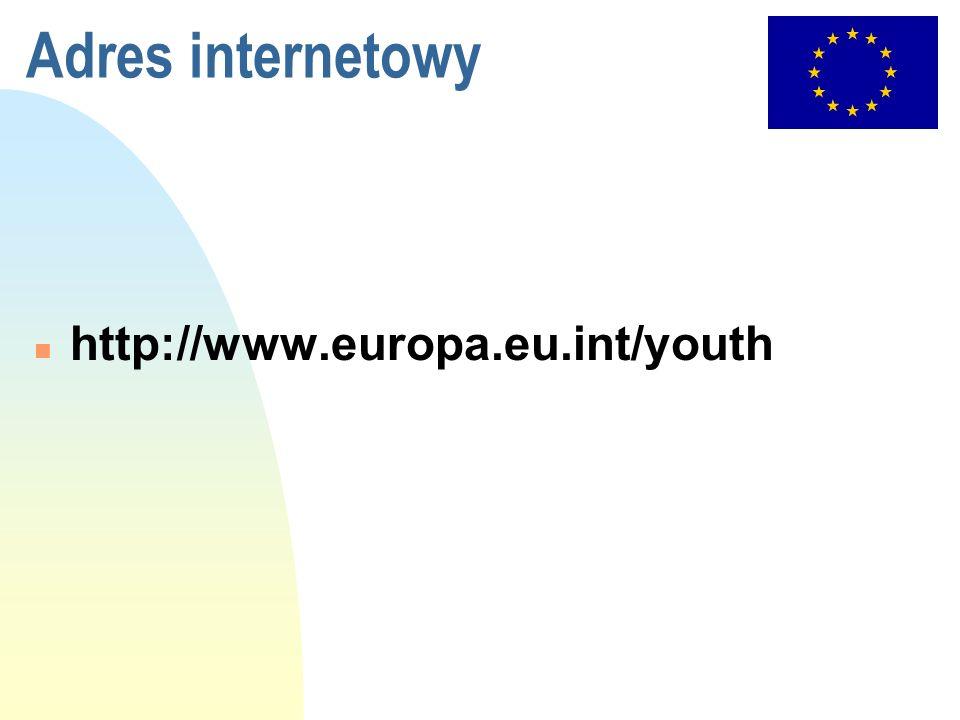 Adres internetowy n http://www.europa.eu.int/youth