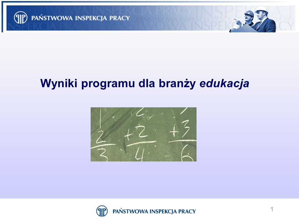 1 Wyniki programu dla branży edukacja