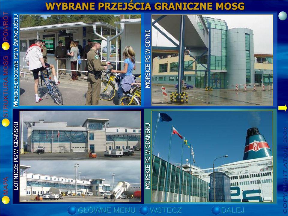 WYŁĄCZNA STREFA EKONOMICZNA STREFA SAR MORZE TERYTORIALNE Elbląg Frombork Gdynia Gdańsk – Nowy Port Gdańsk – Port Północny Gdańsk – Górki Zachodnie He