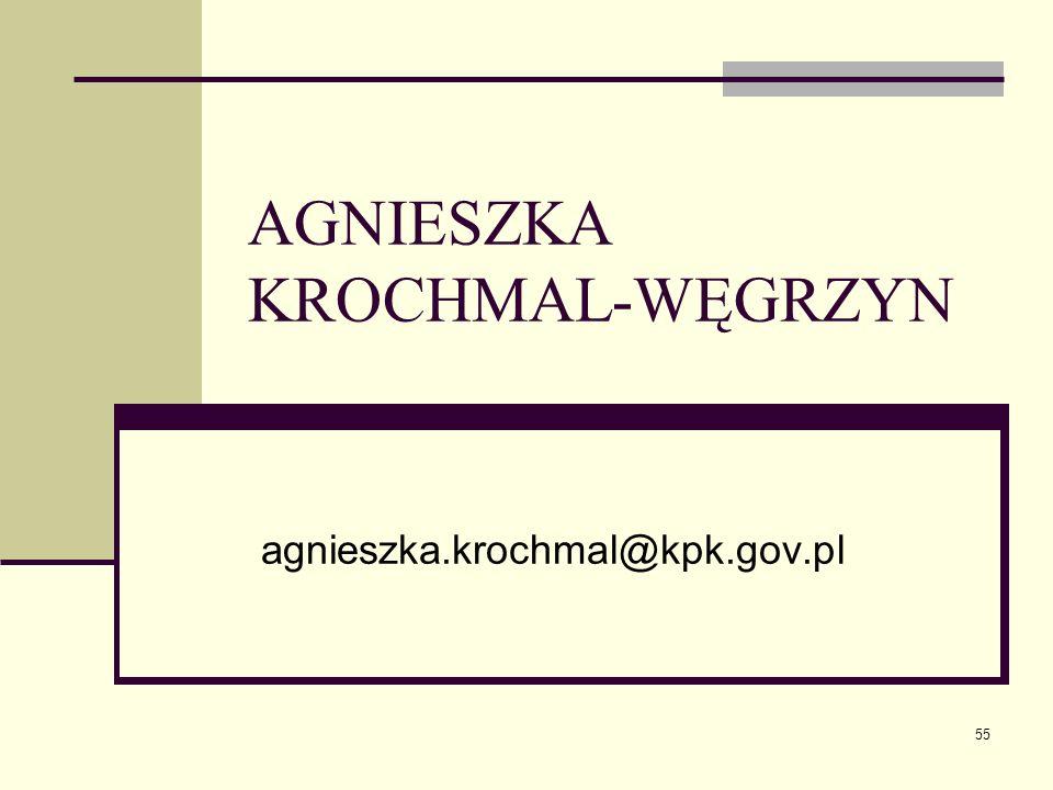 55 AGNIESZKA KROCHMAL-WĘGRZYN agnieszka.krochmal@kpk.gov.pl