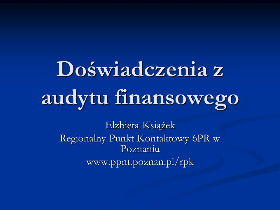 Raport z kontroli Opis wszystkich sprawdzanych spraw (ogólny wydźwięk pozytywny z zaleceniami co do godzin produktywnych) Opis wszystkich sprawdzanych spraw (ogólny wydźwięk pozytywny z zaleceniami co do godzin produktywnych) The contractor has generally complied with its obligations under the contract.
