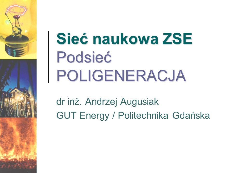 Sieć naukowa ZSE Podsieć POLIGENERACJA dr inż. Andrzej Augusiak GUT Energy / Politechnika Gdańska