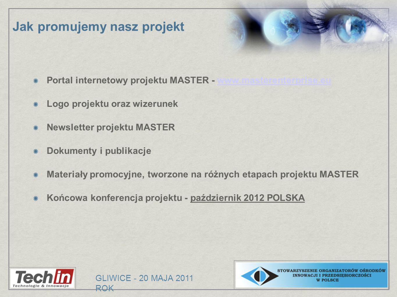 Portal internetowy projektu MASTER - www.masterenterprise.euwww.masterenterprise.eu Logo projektu oraz wizerunek Newsletter projektu MASTER Dokumenty