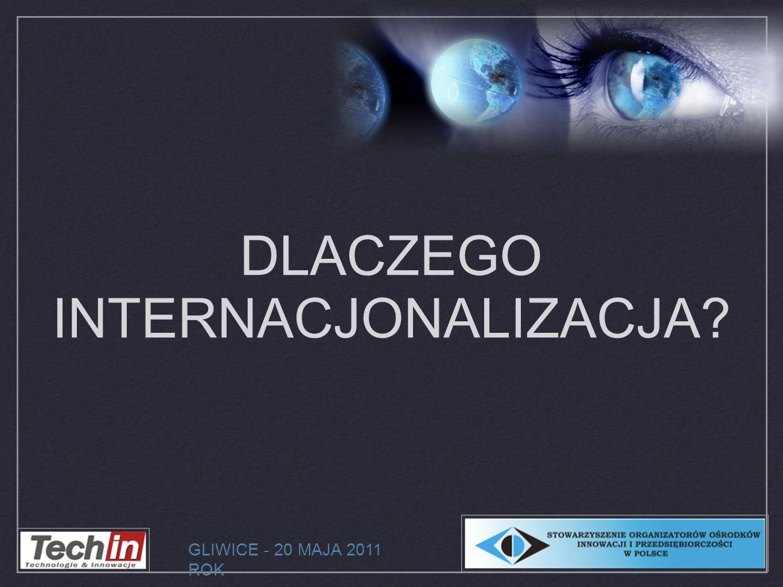 DLACZEGO INTERNACJONALIZACJA? GLIWICE - 20 MAJA 2011 ROK